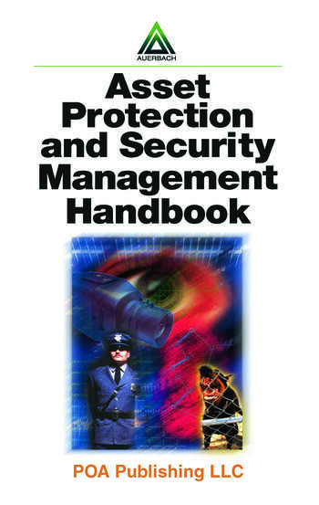 Asset Protection and Security Management Handbook book cover