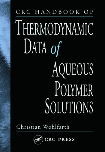 CRC Handbook of Thermodynamic Data of Aqueous Polymer Solutions book cover