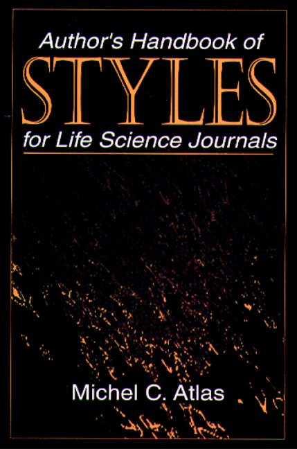 Author's Handbook of Styles for Life Science Journals book cover