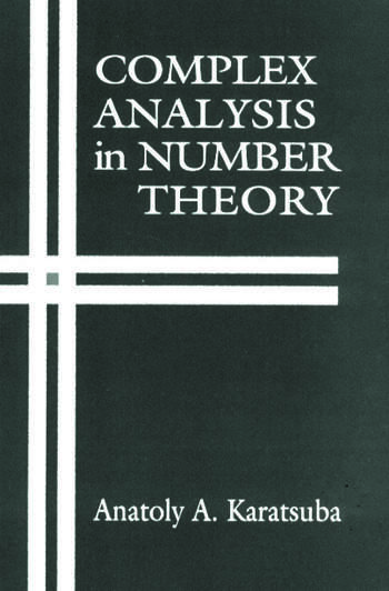 Complex Analysis in Number Theory book cover