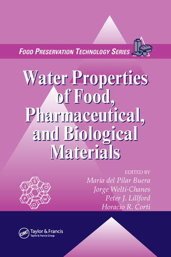 Water Properties of Food, Pharmaceutical, and Biological Materials book cover