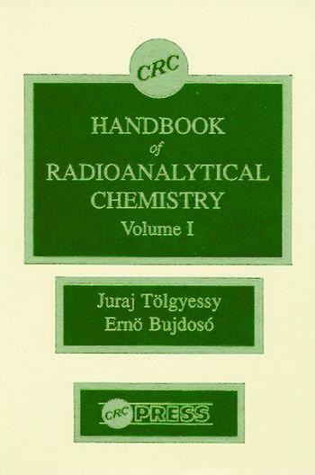 CRC Handbook of Radioanalytical ChemistryVolume 1 book cover