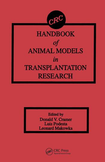 Handbook of Animal Models in Transplantation Research book cover