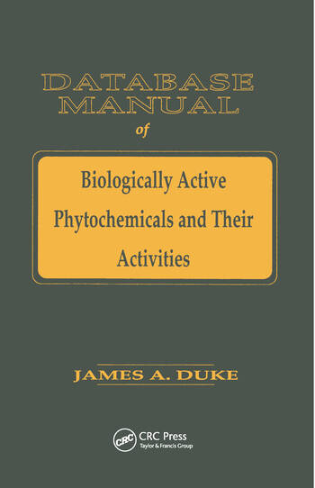 Database of Biologically Active Phytochemicals & Their Activity book cover
