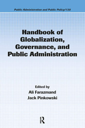Handbook of Globalization, Governance, and Public Administration book cover