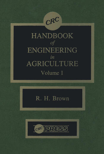 CRC Handbook of Engineering in Agriculture - 3 Volume Set book cover