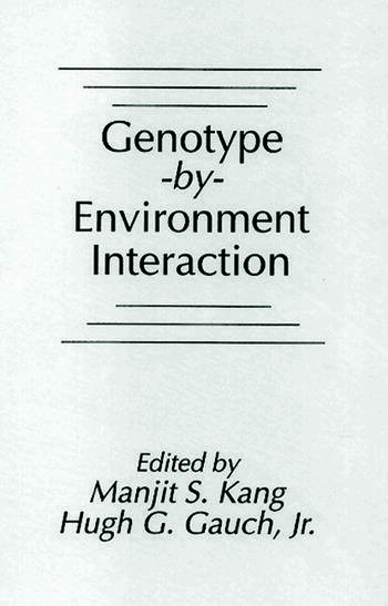Genotype-by-Environment Interaction book cover
