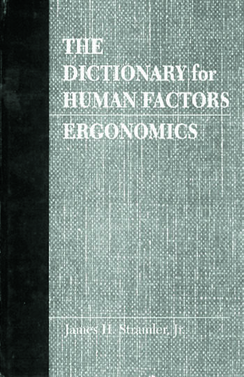 The Dictionary for Human Factors/Ergonomics book cover