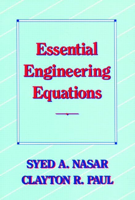 Essential Engineering Equations book cover