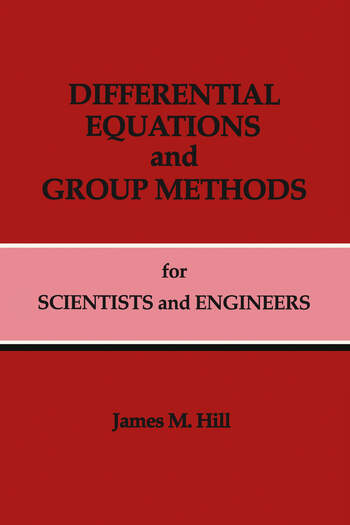 Differential Equations and Group Methods for Scientists and Engineers book cover