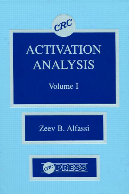 Activation Analysis, Volume I book cover