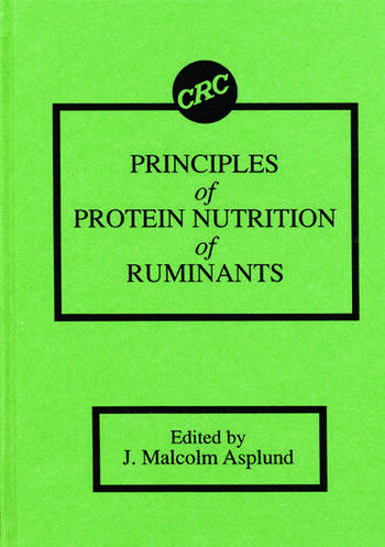 Principles of Protein Nutrition of Ruminants book cover