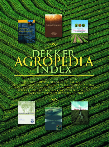 Dekker Agropedia Index book cover