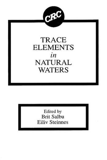 Trace Elements in Natural Waters book cover