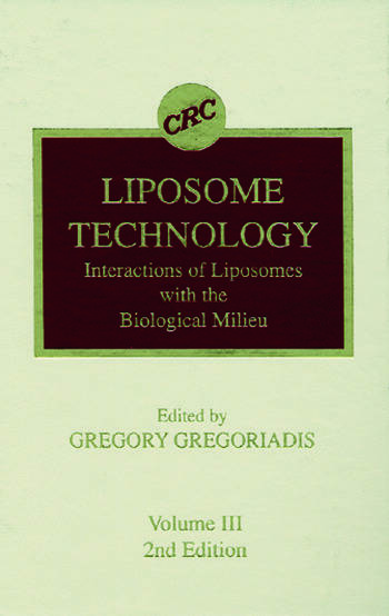 Liposome Technology, Second Edition, Volume III book cover