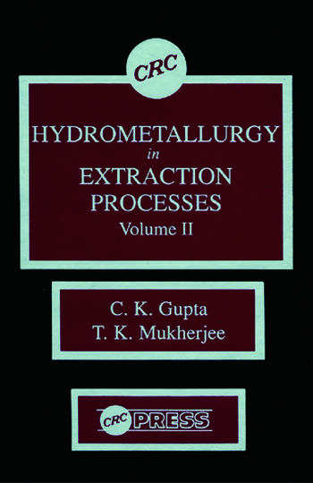 Hydrometallurgy in Extraction Processes, Volume II book cover
