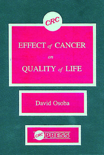 Effect of Cancer On Quality of Life book cover