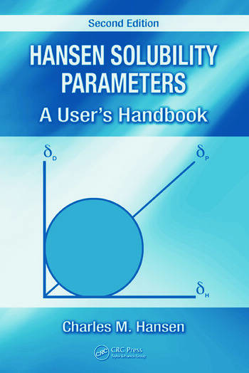 Hansen Solubility Parameters A User's Handbook, Second Edition book cover