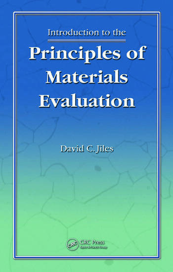 Introduction to the Principles of Materials Evaluation book cover