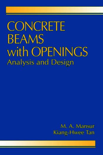 Concrete Beams with Openings Analysis and Design book cover