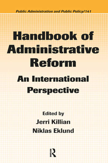 Handbook of Administrative Reform An International Perspective book cover