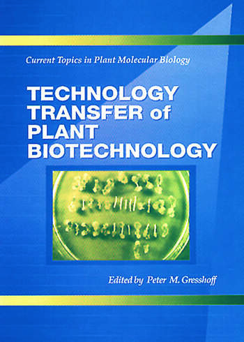 Technology Transfer of Plant Biotechnology book cover