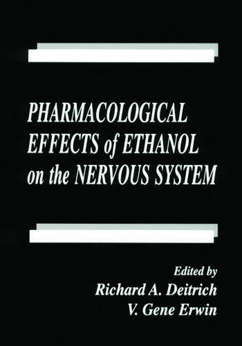 Pharmacological Effects of Ethanol on the Nervous System book cover