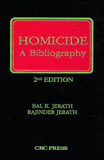 Homicide A Bibliography, Second Edition book cover