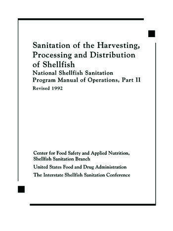 Sanitation of the Harvesting, Processing, and Distribution of Shellfish book cover