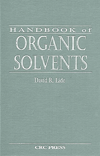 Handbook of Organic Solvents book cover