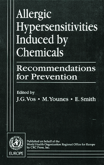 Allergic Hypersensitivities Induced by Chemicals Recommendations for Prevention book cover