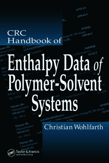 CRC Handbook of Enthalpy Data of Polymer-Solvent Systems book cover