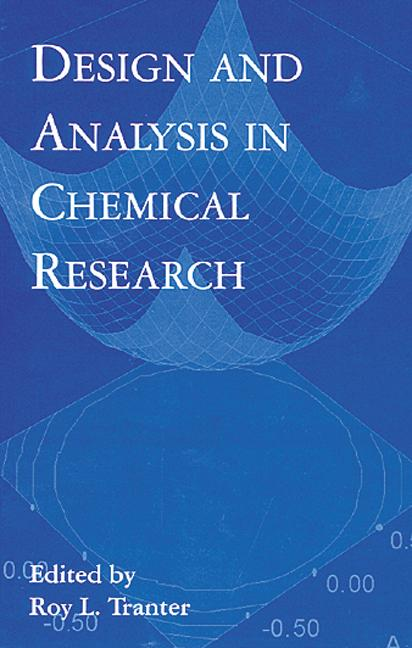 Design and Analysis in Chemical Research book cover