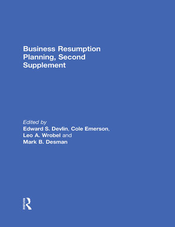 Business Resumption Planning, Second Supplement book cover