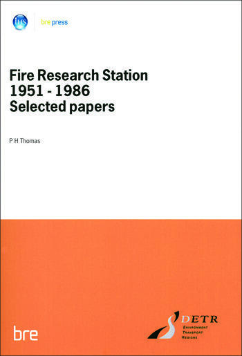 Fire Research Station 1951-1986 Selected Papers (BR 80) book cover