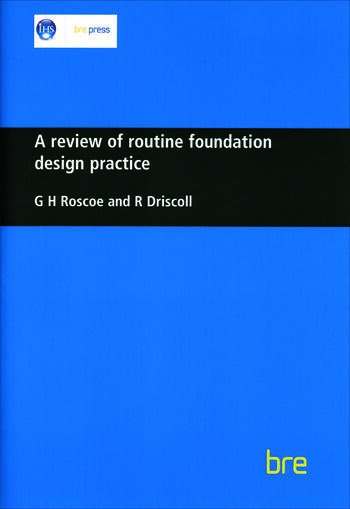 A Review of Routine Foundation Design Practice (BR 104) book cover