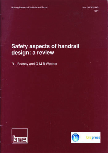 Safety Aspects of Handrail Design A Review (BR 260) book cover