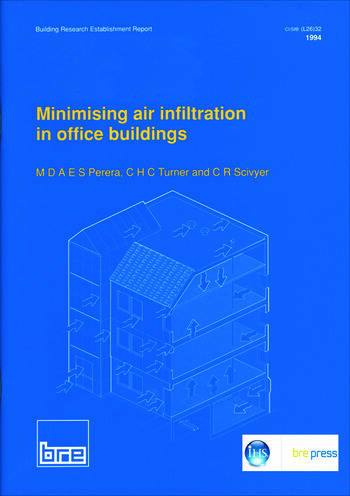 Minimising Air Infiltration in Office Buildings (BR 265) book cover
