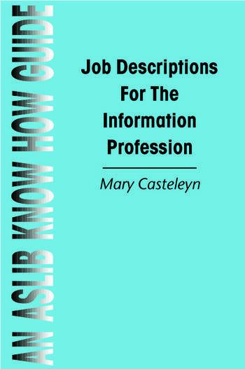 Job Descriptions for the Information Profession book cover