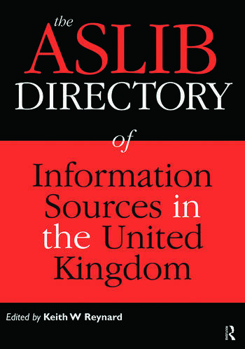 The Aslib Directory of Information Sources in the UK book cover