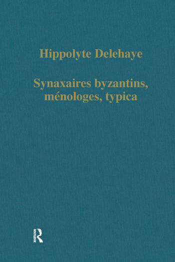 Synaxaires byzantins, ménologes, typica book cover
