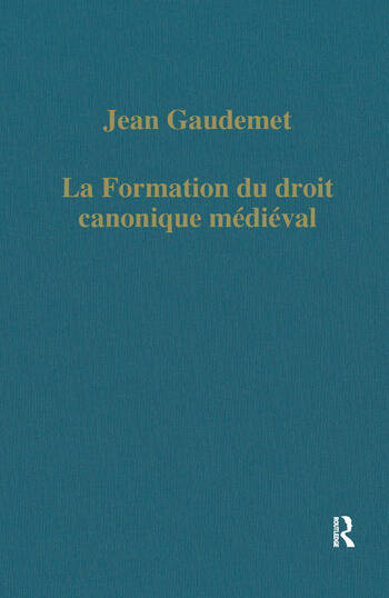 La formation du droit canonique médiéval book cover