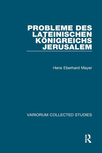 Probleme des lateinischen Königreichs Jerusalem book cover