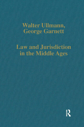 Law and Jurisdiction in the Middle Ages book cover