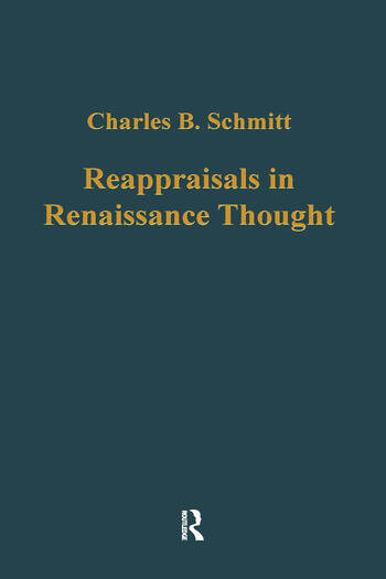 Reappraisals in Renaissance Thought book cover