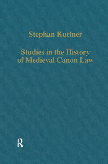 Studies in the History of Medieval Canon Law book cover