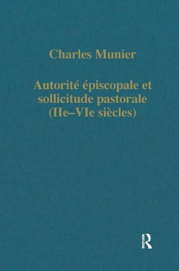 Autorité épiscopale et sollicitude pastorale (IIe–VIe siècles) book cover