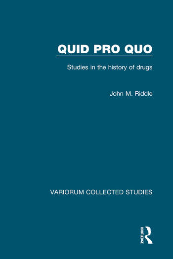 Quid pro quo Studies in the History of Drugs book cover