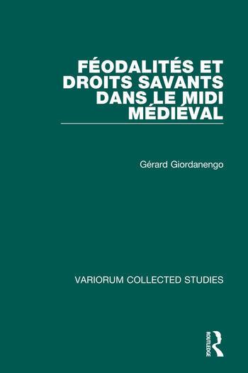 Féodalités et droits savants dans le Midi médiéval book cover