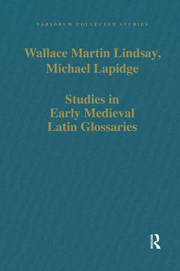 Studies in Early Medieval Latin Glossaries book cover